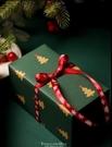 聖誕節包裝紙平安夜復古風生日禮物紙新年年會禮品盒手工紙