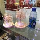 旺姻緣招桃花風水擺件粉水晶樹
