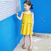 女童連身裙純棉吊帶裙公主裙