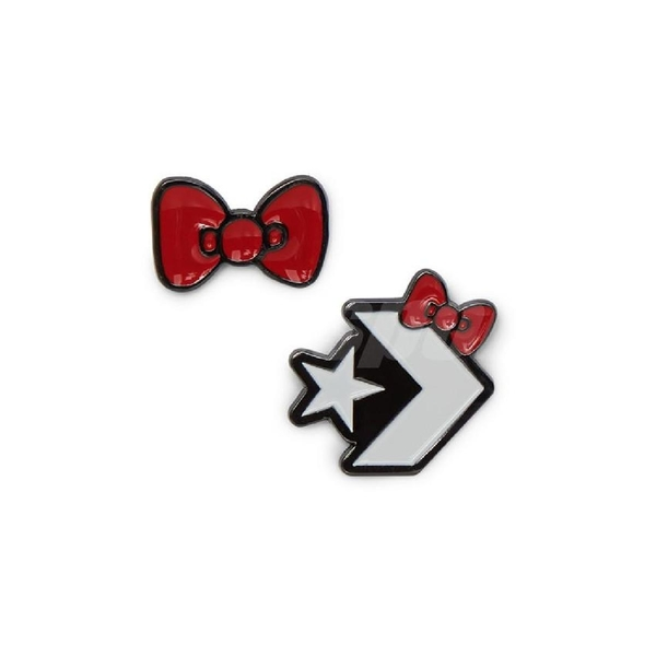 【四折特賣】Converse 斜背包 Hello Kitty X COMMS POUCH 米白 紅 女款 蝴蝶結 聯名 【ACS】 10008211A02