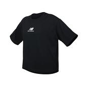 NEW BALANCE 女短袖T恤(休閒 慢跑 NB≡體院≡ AWT11540BK