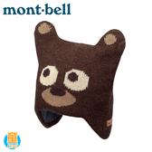 【Mont-Bell 日本 童 Bear Knit Cap 幼兒保暖造型熊帽《棕》】1118329/小熊護耳帽/針織帽/羊毛帽