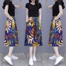 兩件套短袖韓版實拍半身裙套裝女新款夏季棉...