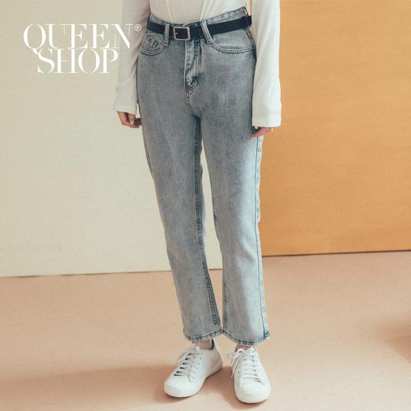Queen Shop【04011319  】水洗刷色直筒男友牛仔褲  S/M/L *現+預*