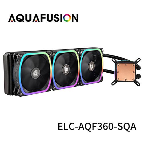 保銳科技 ENERMAX AQUAFUSION 360 幻彩晶蝶 360mm 水冷式 散熱器 ELC-AQF360-SQA