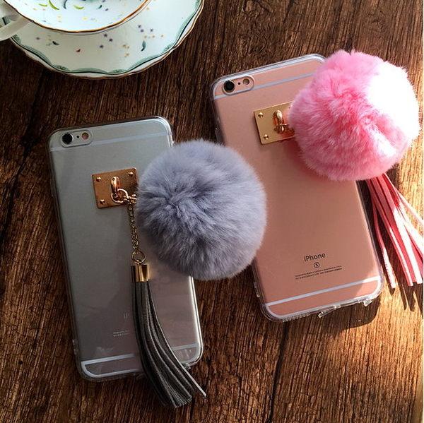 《7color camera》韓國 流蘇 手機殼 iPhone6 6s Plus 4.7 5.5 原創 毛球 正品 保護殼 軟殼