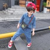 童裝男童春裝新品套裝春秋兒童牛仔兩件套帥兒童男孩正韓潮衣