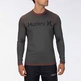 Hurley M HRLY OAO SURF SHIRT LS IRON GREY 衝浪T恤長袖-(灰)