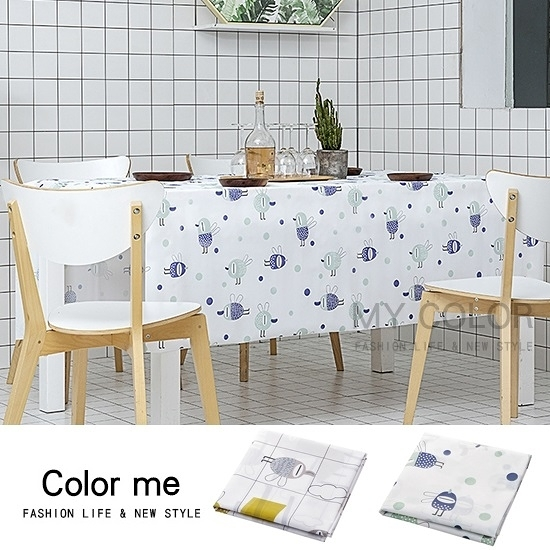 桌布 北歐風 桌巾 長桌巾 餐墊 野餐墊 桌墊 防燙 防油 北歐風桌布(小)【L197】color me