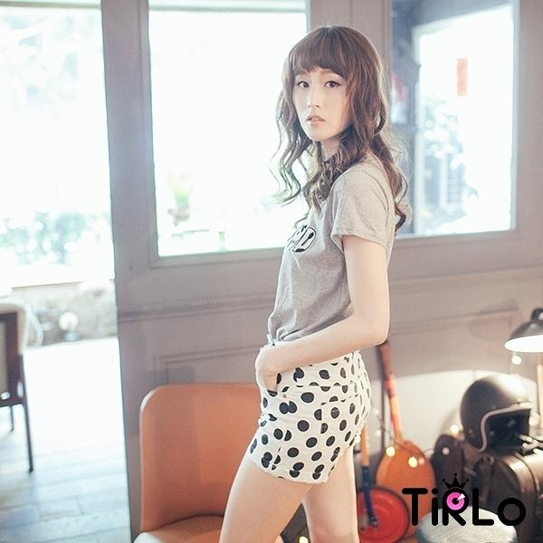 上衣-Tirlo-韓國空運-LEOPARD英母短版上衣