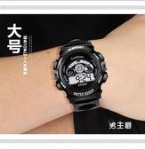 電子男錶青少年手錶簡約初中學生兒童手錶男孩防水戶外運動潮夜光電子男錶