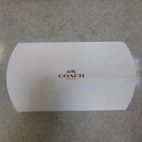 ~雪黛屋~COACH 短夾盒國際正版短型皮夾零錢包紙盒進口厚紙材質可摺疊收納展開為盒-短夾盒#9601