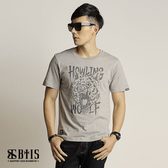【BTIS】三眼狼 圓領T-shirt  / 麻灰色