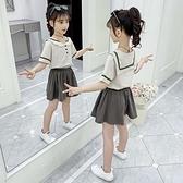 女童運動套裝 女童套裝夏裝2021新款大兒童裝洋氣夏季學院風短袖短褲兩件套 快速出貨