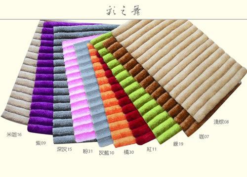 范登伯格 彩之舞 漸層條紋厚蓬地毯-咖07-50x180cm