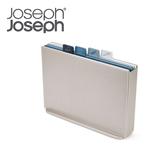 【Joseph Joseph】檔案夾止滑砧板組-雙面附凹槽(大天空藍)