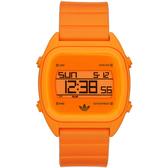 adidas 線條創造三葉數位腕錶(螢光橘)