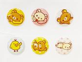 【震撼精品百貨】Rilakkuma San-X 拉拉熊懶懶熊~iPhone、iPad  按鍵貼-躺#17875