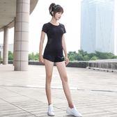 高彈健身衣女t恤緊身顯瘦運動跑步短袖瑜伽服上衣速干透氣短袖夏-大小姐韓風館