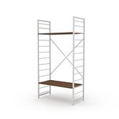 組 - 特力屋萊特 組合式層架 白框/深木紋色 80x40x158cm