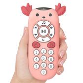 兒童音樂玩具 嬰兒小鹿遙控器中英雙語牙膠玩具-JoyBaby
