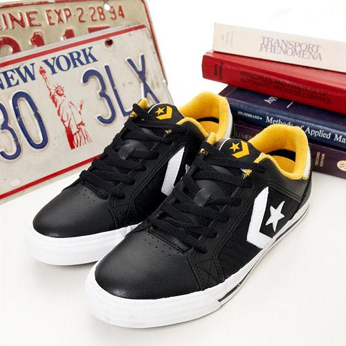 CONVERSE 街頭滑板鞋--GATES--黑黃--1103M190400 --男