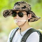 釣魚防曬帽 可折疊大頭圍大沿迷彩遮陽防曬帽