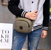 韓版新款斜挎單肩背包簡約休閒帆布手機包零錢實用小男包 挪威森林