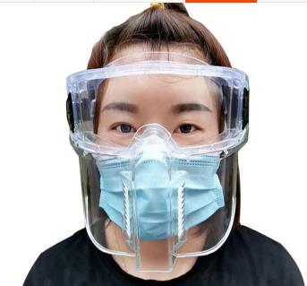 防疫面罩 全臉防沖擊面屏罩具飛濺打磨護目眼鏡塵霧切割隔離油煙污女士男炒菜