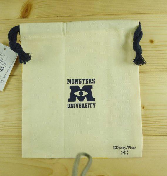 【震撼精品百貨】Monsters University_怪獸大學~束口袋/縮口袋-綜合圖案-米白色(小)