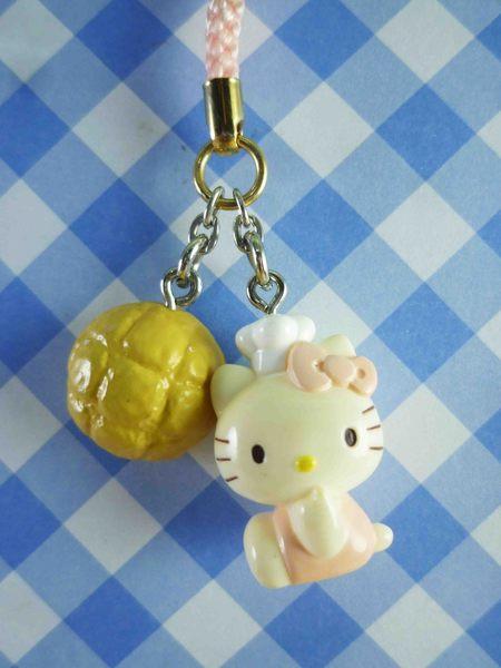 【震撼精品百貨】Hello Kitty 凱蒂貓~限定版手機吊飾-波蘿麵包(粉側坐)