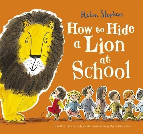 【麥克書店】HOW TO HIDE LION AT SCHOOL /英文繪本 (中譯:獅子要藏在哪裡)