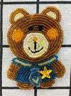 【震撼精品百貨】Daisy & Coro_熊與兔~三麗鷗熊與兔珠珠飾貼布-熊#56206