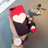 蚕心形iphone6splus手機殼蘋果8簡約個性7手環X日韓7p女潮創意 年終尾牙【快速出貨】