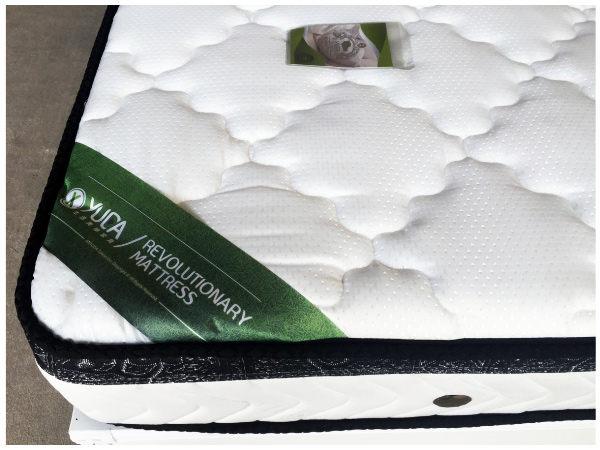 獨立筒床墊【YUDA】英式舒眠 天然乳膠【軟硬適中+3M防潑水+厚度22cm】單人3.5尺獨立筒/彈簧床墊