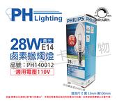 PHILIPS飛利浦 EcoClassic30 28W E14 120V 尖清 可調光 鹵素蠟燭燈_PH140012