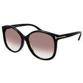【TOM FORD】Melody配戴款-大框太陽眼鏡#咖啡框漸層棕鏡面(TF9275-52F)