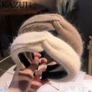 髮箍 韓版秋冬天新款百搭外出毛線髮箍打結寬邊頭箍簡約髮卡壓髮女洗臉 智慧 618狂歡