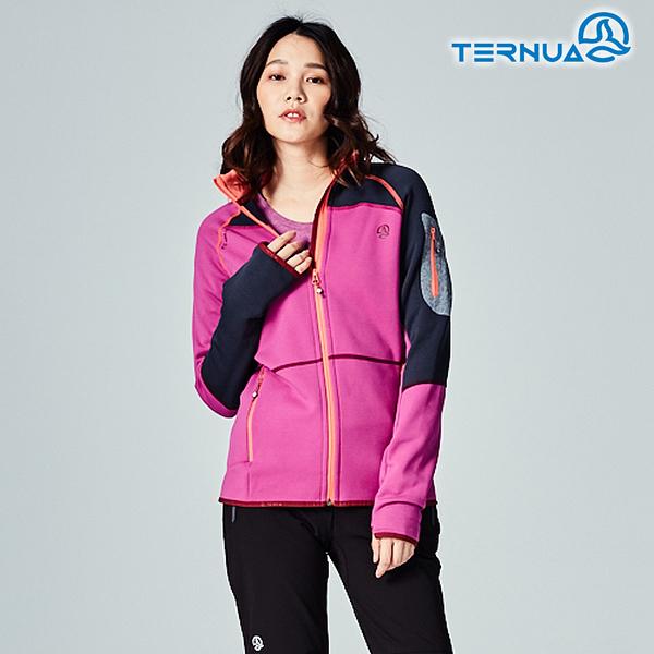 【西班牙TERNUA】女Power stretch pro 保暖外套1642911 / 城市綠洲(Polartec、刷毛、透氣、快乾)