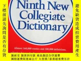 二手書博民逛書店Websters罕見Ninth New Collegiate D