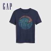 Gap 男童 棉質舒適圓領短袖T恤 541076-海軍藍