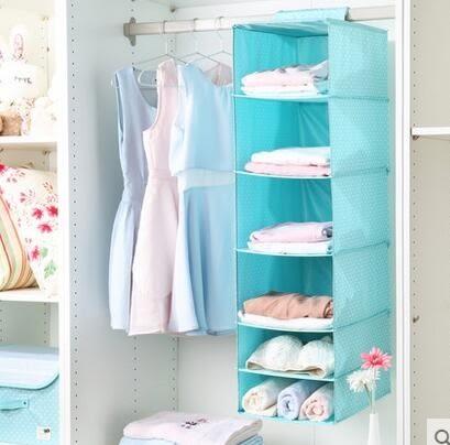 布艺衣柜收纳挂袋可多层悬挂式衣服收纳袋整理袋储物袋收纳盒