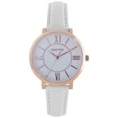 GOTO 低調奢華小資女皮革腕錶-白色-GL0054L-42-241