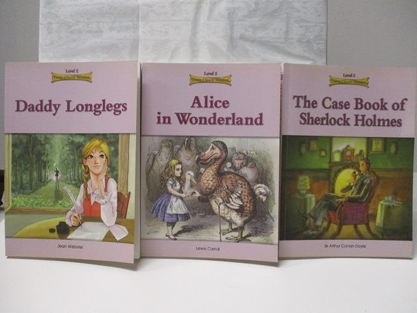 【書寶二手書T6/原文小說_BZ5】Daddy Longlegs_Alice in Wonderland等_3本合售