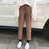 秋冬女裝闊腿褲學生新款褲子百搭高腰直筒毛呢西褲外穿·皇者榮耀3C旗艦店