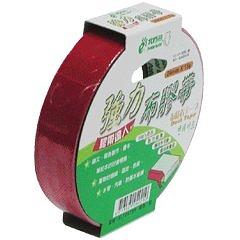 【奇奇文具】北極熊 CLT2415R紅色布紋膠帶24mm×15yds