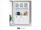 【MK億騰傢俱】ES703-02 綺雅娜白色4尺碗盤餐櫃(全組)