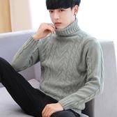 男士高領毛衣男加厚韓版冬季2019新款修身潮流男生打底毛線針織衫