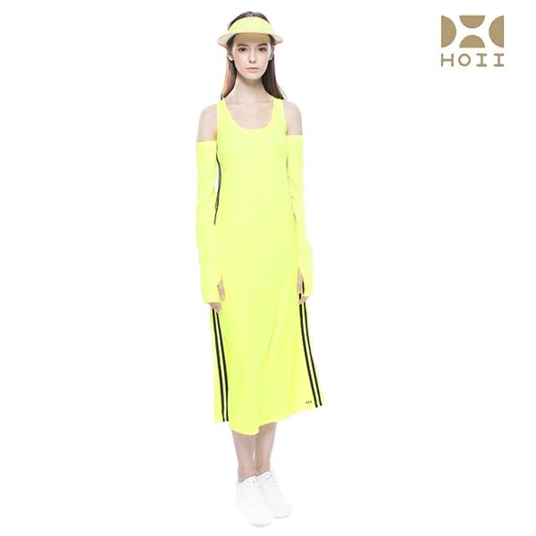 HOII后益先進光學美療布-交叉美背長洋裝(黃/紅/藍)