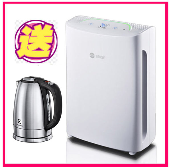 (獨家送)BRISE C200-全球第一台人工智慧空氣清淨機 加贈高級快煮壺(送濾網吃到飽一年)